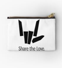 Share The Love Trending Apparel Black Zipper Pouch