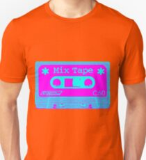 Psychedelic Mix Tape - Cyan and Magenta Unisex T-Shirt