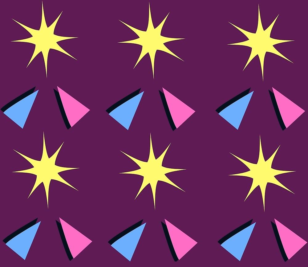 a099b5ff4 Patrón de chispas y triángulos de los 80» de Francesca Damkar ...