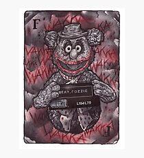 Fozzie Bear Joker Photographic Print