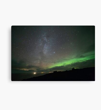Iceland - Milky Way and Northern Lights Canvas Print