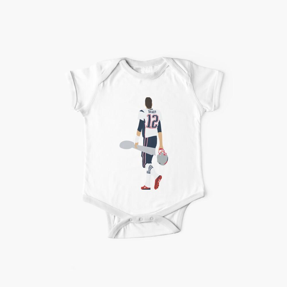 Tom Brady Walk Off With Lombardi Trophy Baby One-Pieces