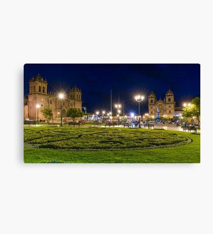 Cusco by Night Canvas Print