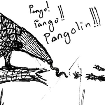 Pangolin and squirrel by Benlyksmonsters
