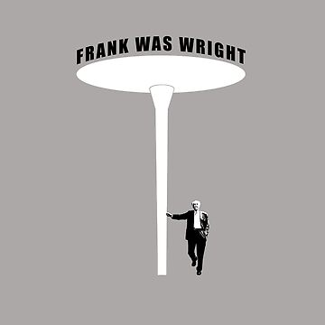 Frank Was Wright Water Lily Column Architecture T shirt by pohcsneb