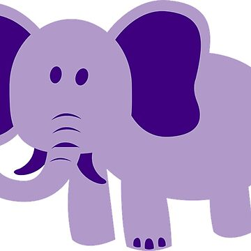 Purple Elephant Elephant by Scirocko
