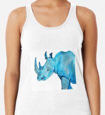 Blaues Nashorn Racerback Tank Top