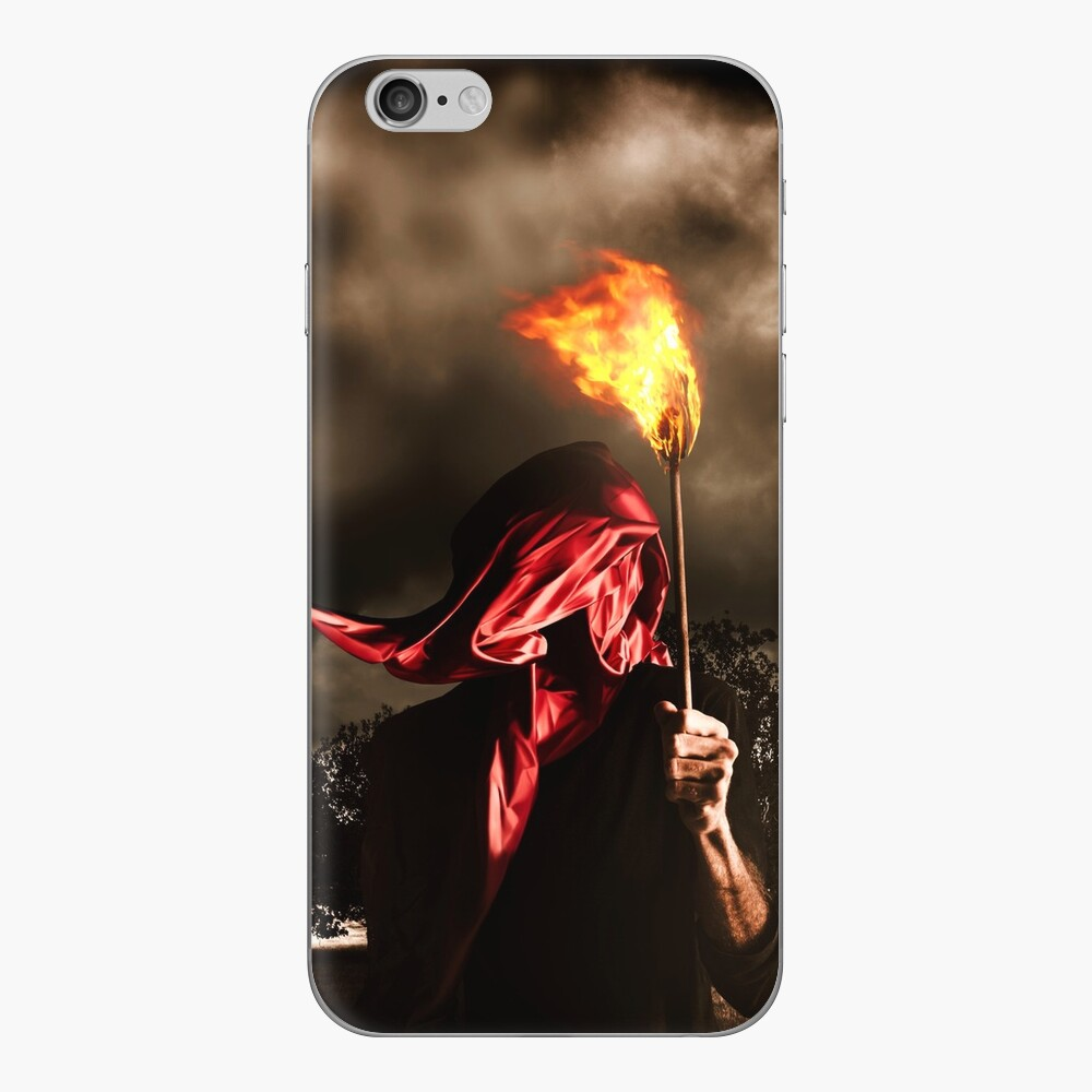 Freedom or fire. A statute of liberty Vinilo para iPhone