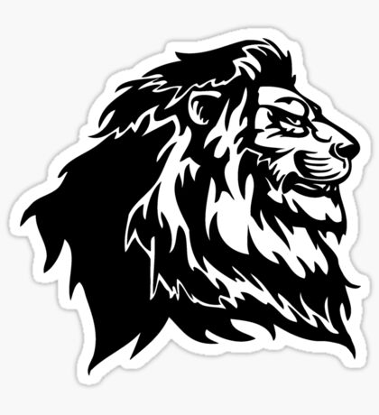 Proud Tribal Lion Sticker