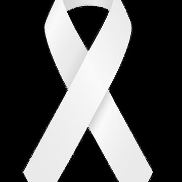 White ribbon anti domestic violence / lung cancer by headpossum
