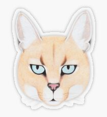 African Golden Cat Transparent Sticker