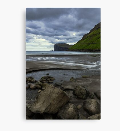 Faroe Island - The cliff Canvas Print