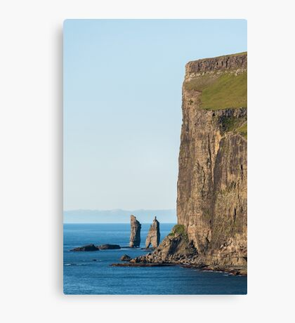 Faroe Islands - The cliffs Canvas Print
