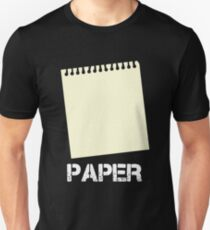 Paper Edition - Rock Paper Scissors Matching Gift Design Unisex T-Shirt