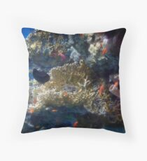 Mysterious And Beautiful Red Sea Underwater World Throw Pillow