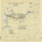 15. Juli 1944 Zwölfter Armeegruppe-Lageplan des Zweiten Weltkrieges von allhistory