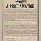 Vorläufige Emanzipations-Proklamation Breitseite (1862) von allhistory