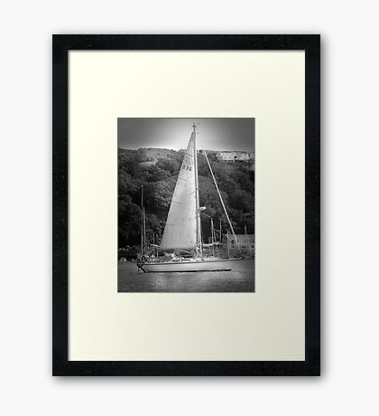 Yachting on the River Fowey  Framed Print