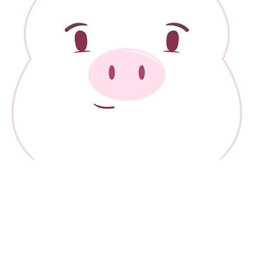 Pig Face Art | Cool Vibrant Swine Fan Design Gift by NBRetail