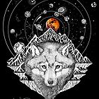 The Red blood Wolf Moon eclipse 2019 by Ruta Dumalakaite