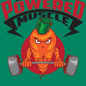 Cute Plant Powered Muscle Design - Gym Fitness Vegetarians by NBRetail