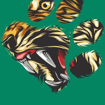 Tiger Eyes In Paw Art | Cool Awesome Big Cat Design Gift by NBRetail
