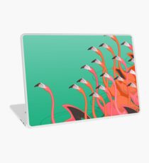 Fresko der Flamingos Laptop Skin