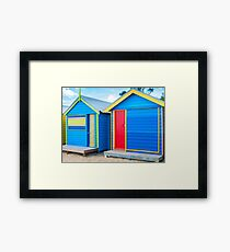 Bathing houses at Brighton Beach, Australia Framed Print