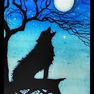 Wolf coyote art by Angieclementine  by Angieclementine