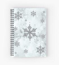 Glitter Schneeflocken Eis Frost Winter Spiralblock
