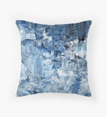 Ebb and flow across lost ice paradise Throw Pillow