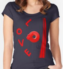 Best love T- Shirt Women's Fitted Scoop T-Shirt