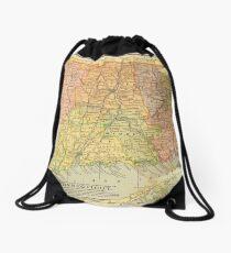 Vintage map of Connecticut Drawstring Bag