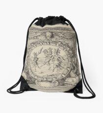 Vintage dancers illustration Drawstring Bag