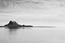 Lindisfarne Castle in Black & White by David Lewins