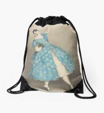 Vintage Ballet Dancer illustration Drawstring Bag