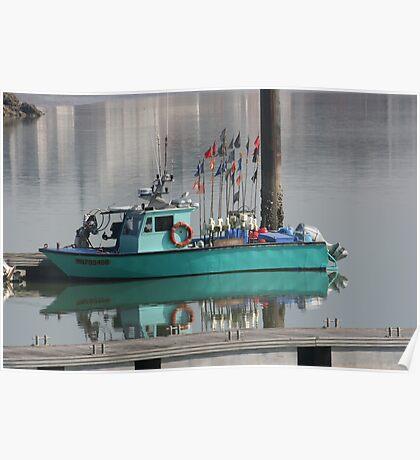 Little Green Fishing Boat - Royan Poster