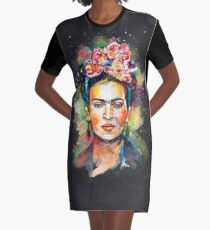Frida Kahlo (Dark Edition) Graphic T-Shirt Dress