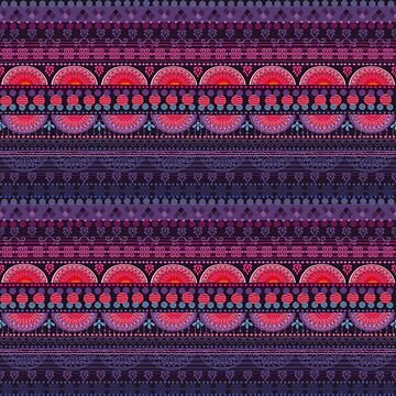 Tribal Pattern - Sunset by Skullz23