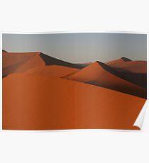 Mountain range of sand Poster