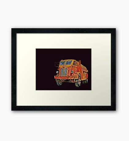 Water Truck  from Corvallis Oregon Framed Print