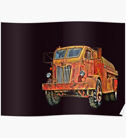 Water Truck  from Corvallis Oregon Poster