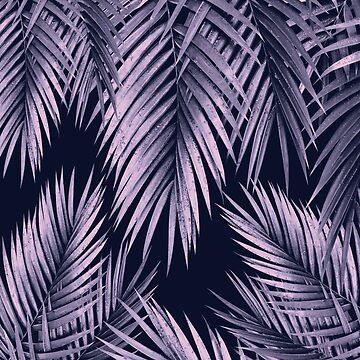Palm Leaf Jungle Night Vibes #2 #tropical #decor #art by anitabellajantz