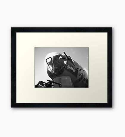 B17 Nose In The Air Black&White Framed Print