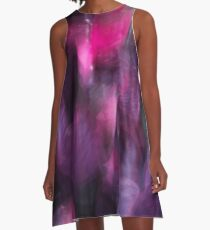 Abstract in Lilac and Blue A-Line Dress