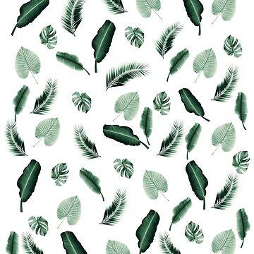 Tropical Jungle Leaf Pattern #2 #tropical #decor #art by anitabellajantz
