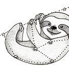 Zodiac sloth by DoughtycreARTiv