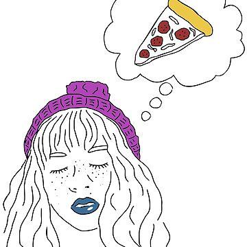 dreaming of pizza by FandomizedRose