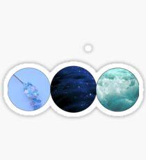 Blue Aesthetic Sticker Trio  Sticker
