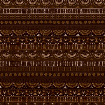 Tribal Pattern - Dark Brown by Skullz23